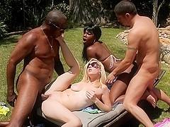 Coffee Brown,Rylie Richman in Interracial Swingers #03, Scene #03