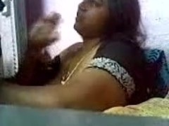 Busty Indian aunty quicky