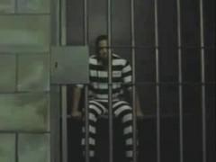 Passionate sex with a tranny in a prison