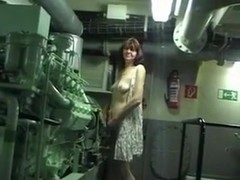 Hot video with my mature brunette wife stripping at her work place