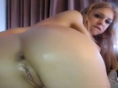 Very Hot Young Blonde On Cam Anal Masturbation With Big Dildo (HD)