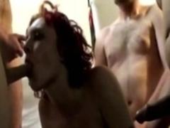 Best pornstar Mystick Moons in fabulous redhead, gangbang porn video