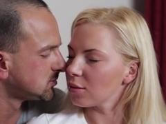 Crazy pornstar Angie Koks in incredible blonde, college sex scene