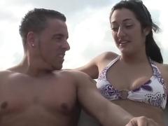 Incredible pornstar Angel Eyes in exotic outdoor, facial adult clip