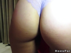 Amateur hotties swapping cum at party