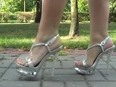 Chrome High Heels