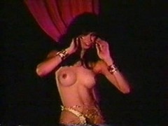 Vintage threesome with brunette Tgirl
