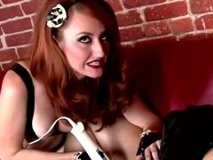 Dominatrix Kendra James drubbing Emily Addison
