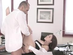Stunning Brunette Babe Gets Nailed By Her Boyfriend