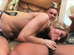 Petite blonde milf Julia Taylor pleasured her lover