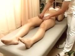 Doggystyle Japanese fucking during kinky massage session