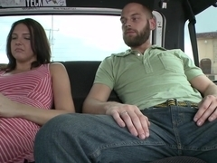 Exgf gets fucked on BangBus