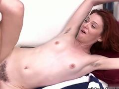 Crazy pornstar Emma Evins in Horny Hairy, Redhead porn scene