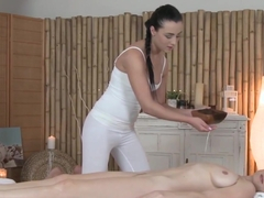 Horny pornstars in Amazing Massage, Lesbian adult video