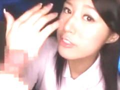 Hottest Japanese whore Sanae Tanimura in Incredible Nurse/Naasu, Cumshots JAV clip