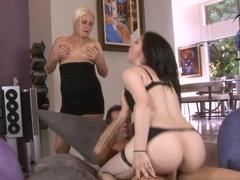 Exotic pornstars Rusty Nails, Karina Kay, Summer Haze in Crazy Threesomes, Stockings adult video