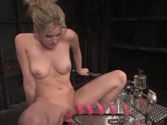 Amazing blonde, fetish xxx video with horny pornstar Fayth Deluca from Fuckingmachines