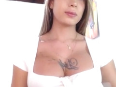 Dream Girl, white dress, huge bulging cock = me cumming