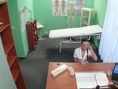 Euro nurse pussylicked and fucked by doctor