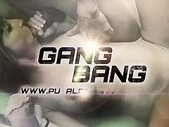 PUTA LOCURA Huge titted Amateur in Gangbang