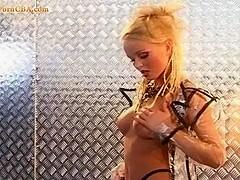 Silvia & Christie Playing with a  big black dildo