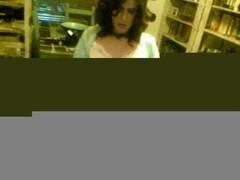 Hot crossdresser masturbates by webcam