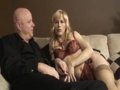 All poses hardcore with a pretty Tgirl