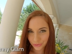 AllInternal stunning redhead is filled with cum in this scene