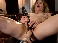 Best milf, fetish sex scene with hottest pornstars Ariel X and Abby Darling from Fuckingmachines