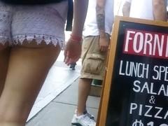 Tourist public butt cheeks