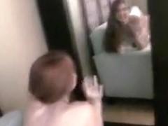 Dilettante redhead filming with boyfriend