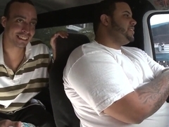 Katie Collins demonstrates her beauty in a Bang Bus