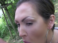 Hottest pornstar Yasmine Gold in Amazing Blowjob, Outdoor xxx scene