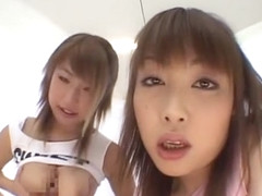 Exotic Japanese chick Megu Hagiwara in Horny Girlfriend, Handjobs JAV movie