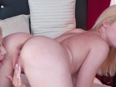 Horny pornstars Izzy Delphine, Cayla Lyons in Amazing Lesbian, Romantic sex clip