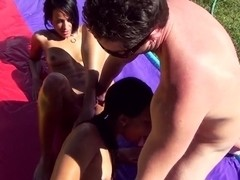 Layla Sin and Luna C Kitseun getting banged