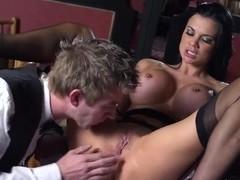 Wondreful brunette American pornstar Danny D fucks wildly