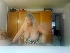 Busty mature GF fucks cowgirl style