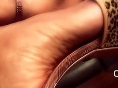 Darla TV - Foot Show In Platform High Heels and Sexy Pink Toenails