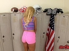 Teen Carmen C###te Locker Room Handjob