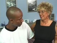 Tattooed GrannyBlonde copulates Bbc