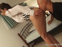 Hot mature Asian tramp Shiho gets doggy style