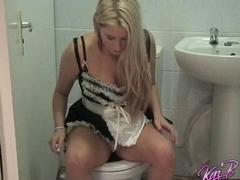 French Maid dress play for British pornstar Kaz B