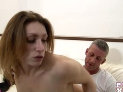 Caught her masturbating at home