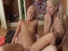 Exotic pornstars Ellen Lotus and Amelie Pure in amazing squirting, anal adult clip