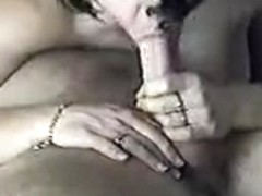Wife takes her time giving him a fine lengthy oral-sex