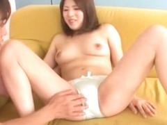 Horny Japanese chick Natsuki Kitagawa in Crazy Cunnilingus JAV scene