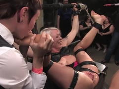 Fabulous blonde, fetish sex movie with amazing pornstars Lorelei Lee and Princess Donna Dolore fro.