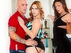 Edyn Blair & Olivia Wilder & Derrick Pierce in My Husband Brought Home His Mistress #07, Scene #02