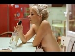 Blondes angel date with bottle